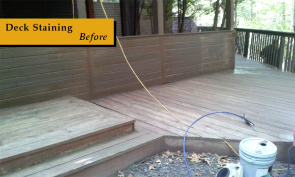 1. Deck Staining Before