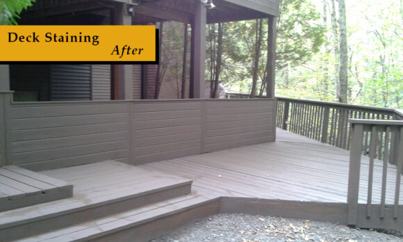 2. Deck Staining After